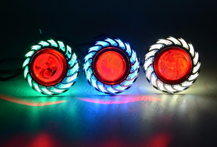 Reliable lifetime warranty U13 interior c ree-led motorcycle project light running light front light 6 color angel eye