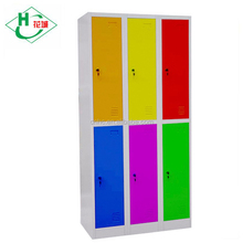 Luoyang Cheap Unassembled Furniture 6 Doors Metal Storage Locker