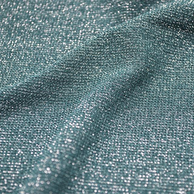 silver glitter stretch mesh  fabric for  garment