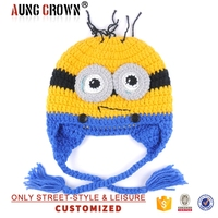 minion knitted patterned beanies hat