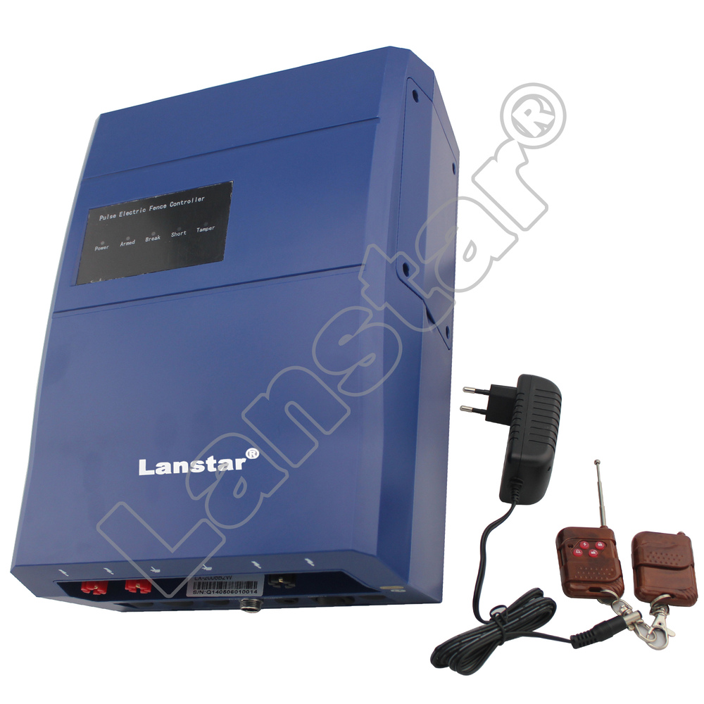 Lanstar intelligent remote control wireless electric fence energizer /charger for security home fence equipment