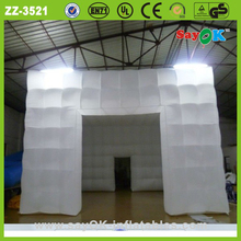 Outdoor party tent/event inflatable led cube lawn party tent price