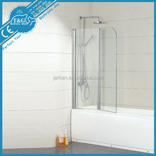 Hot sale top quality best price Adjustable Acrylic Bathtub Shower Screen