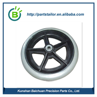 Custom PVC wheelchair caster wheels BCR 0025