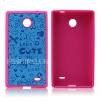 New arrival TPU+PU leather customized printing phone case for nokia x