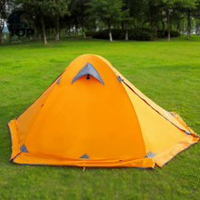 Portable Camping Orange Solar Tent for Sale with Solar Power LED Light Fan for the 2016 big promotion