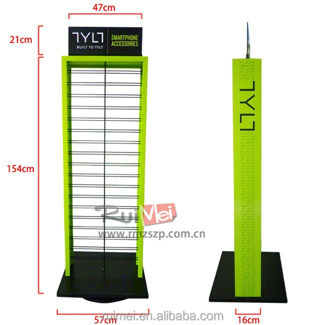 Mobile phone accessories wire mesh display racks and stands