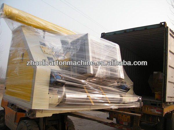 Fingerless type steam/electric heating cardboard corrugated single facer