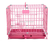 Folding Iron 2 Door Pet Cage with ABS Pan