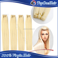 best selling for 2015 high quality 7A peruvian straight hair weaving remy blonde color hair weft 613 blonde hair weave