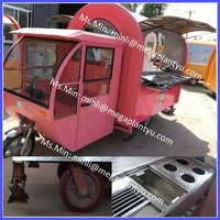 scooter food cart commercial hot dog cart