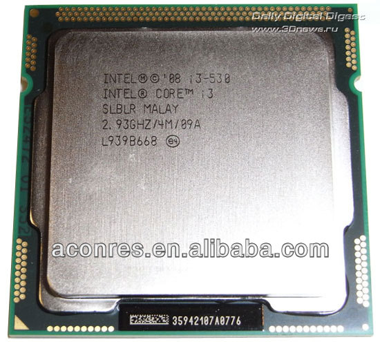 CPU Intel i3 530 second hand Processor clean pulled used CPU