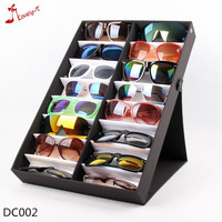 foldable stand transparent or black cover 18 pairs pieces sunglasses display case