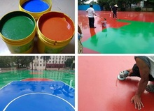 anti abrasion water based paint/coating for rubber surface floor / sport court floor