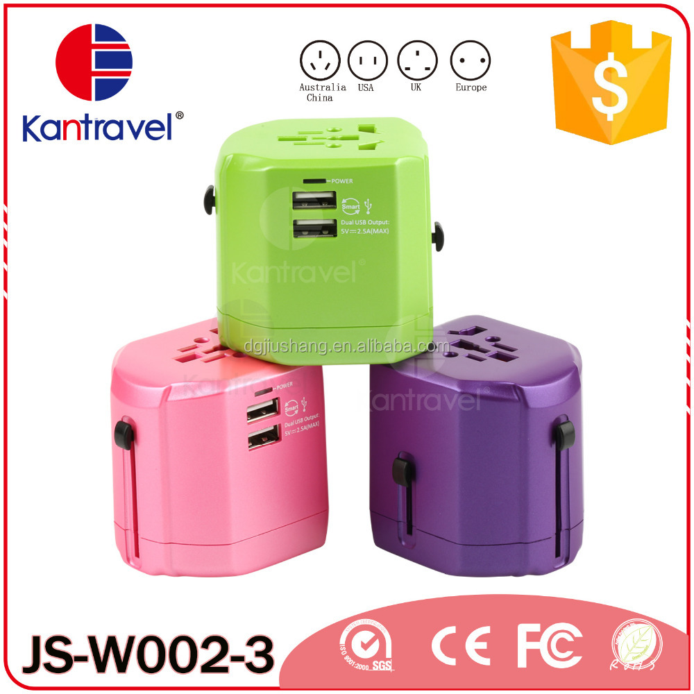 5V2500mA Mobile Phone/tablet Use universal <strong>travel</strong> charging Universal USB adapter/<strong>travel</strong> adapter for gifts 2016