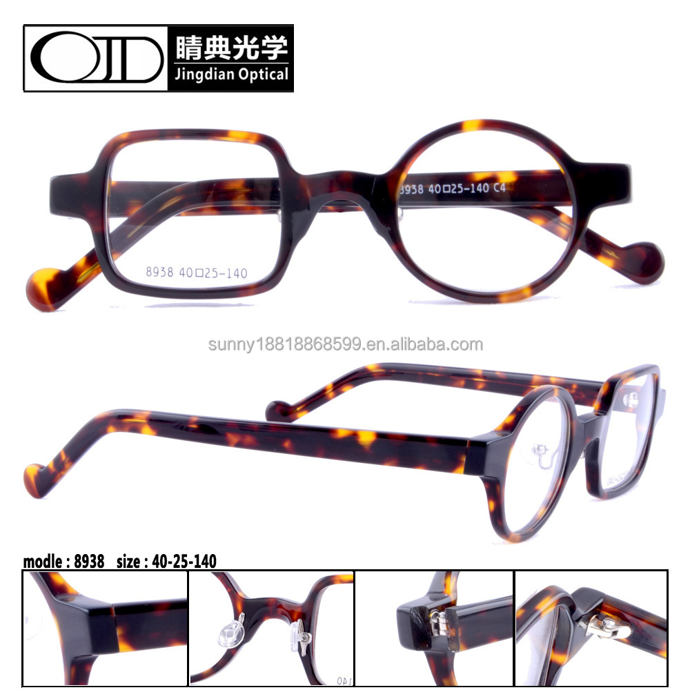 2015 fancy design optical frames acetate eyeglasses frames vintage eyewear 8938