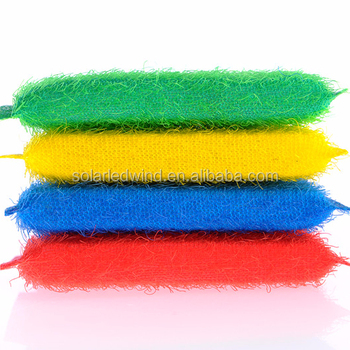 Colorful Plastic Dish Washing Scouring Pad ; Scouring cloth