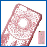 "C&T Pink Henna Dreamcatcher Clear Slim Case Cover for iPhone 6s 6 4.7"" Cellphone Case"