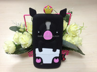 Cute Crown Pig Silicone Case for Samsung Galaxy S4 mini i9190