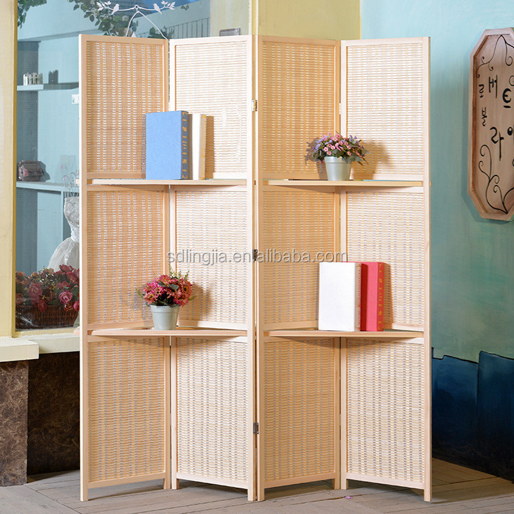 4 Panels New Style Folding Screens Room Dividers Wholesale Bamboo Screen