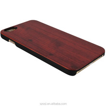 manufacturer Skid-resistant natural pc with rosewood wood wooden back for iphone case 4s 6 7