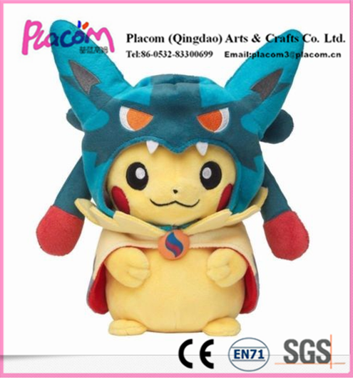 High-quality Official Cheap Cute Pokemon Mega Lucario Pikachu Stuffed Doll Nintendo Cuddly Plush Soft Toy for Wholesale