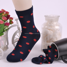 Red dot unisex terry best quality socks anti odor