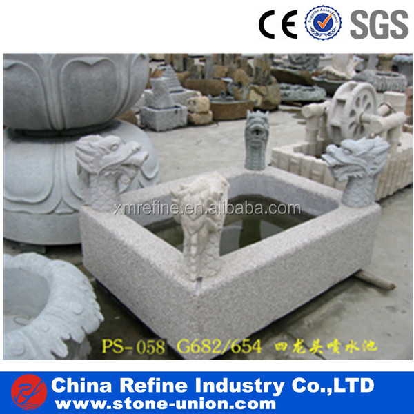 four dragon head square shape water fountain