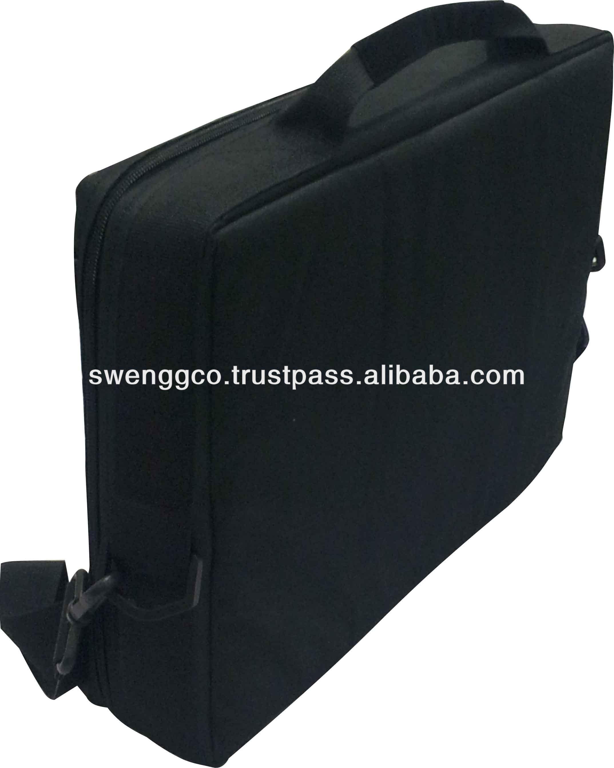 High Quality 600D Cardoura Laptop Bags in black B-19