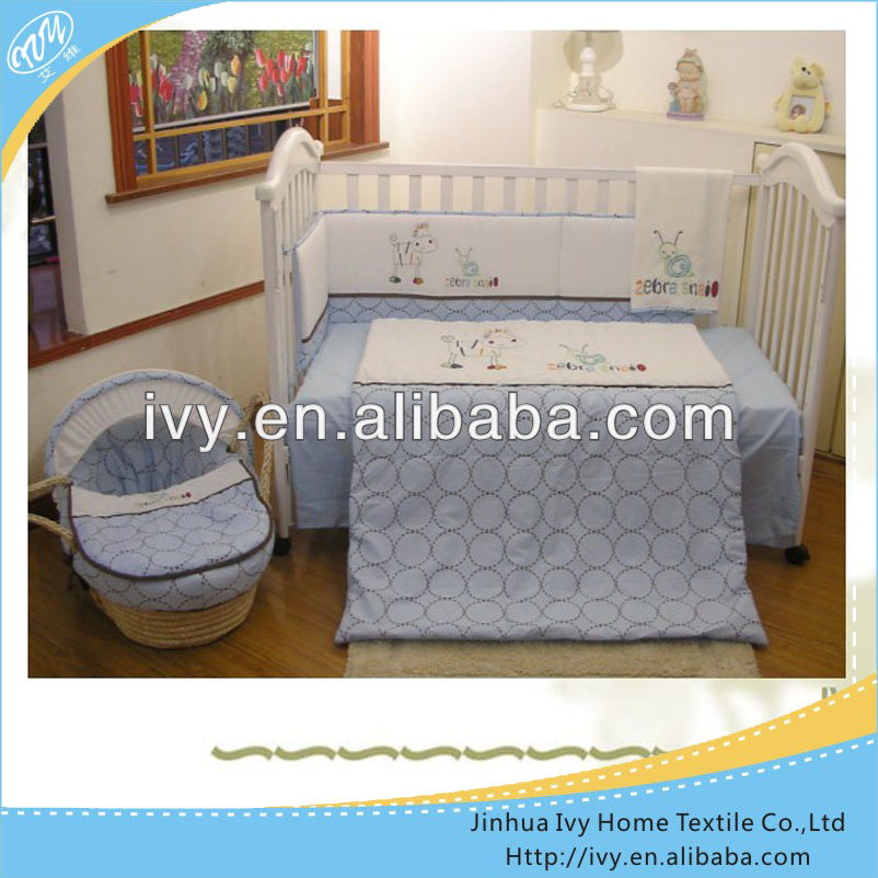 Beautiful applique cot bedding set china bedsheets