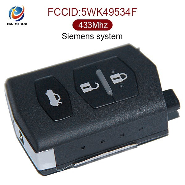 Auto remote key 434 Mhz for Mazda 3B key card siemens system key (AK026001)