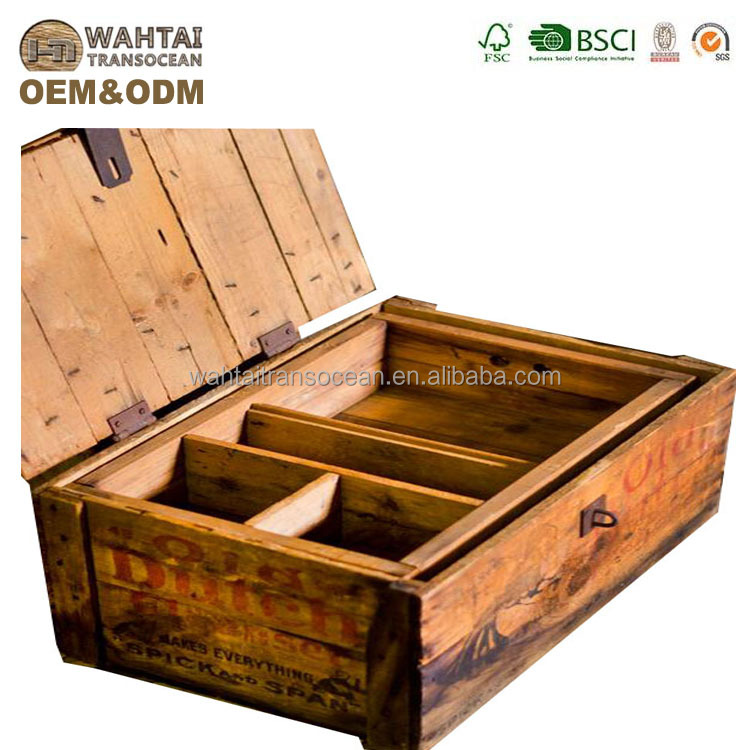 New Fashion,home storage beer crates with handle carrier, home decoration box for beer