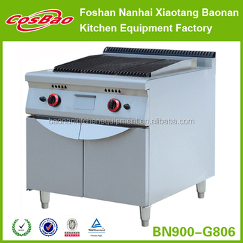 Restaurant Hotel Equipment Lava Rock Grill With Oven Or Cabinet BN900-G806