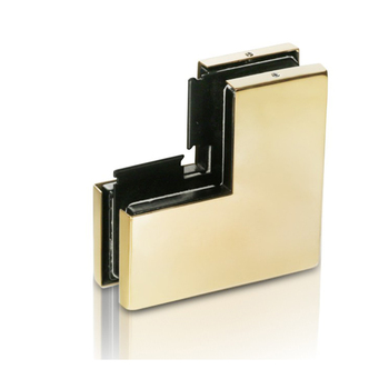 stainless steel golden color glass TOP patch fitting