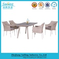 Aluminum Rustproof Frame Highly Recommended Rattan Dining Set Furniture