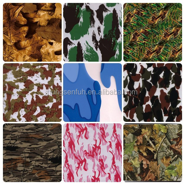 newest camo hydrographics film pva water transfer printing film