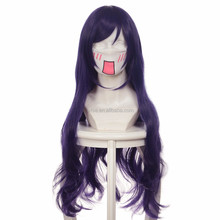 Free Shipping!! Anime Love Live ! LoveLive! Tojo Nozomi Cosplay Wigs Purple Black Long Straight Women Wigs 60cm Costume Hair