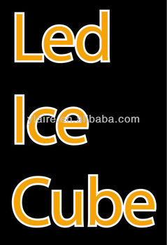 Promotional popular bar item led ice cubes,led ice cube