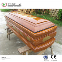Made in China cheap wood coffin