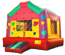 Attractive commercial happy hop bouncy castle for kids