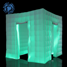 Led Lighting Wedding Cube Inflatable Photo Booth Enclosure Tent 2 Doors For Sale