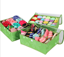 Wholesale Cheap Polyester 3 Set of Folding Underwear Bra Stock Storage Bra Sock Storage/Boxes/Organizer