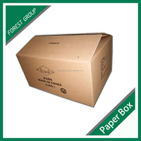 CUSTOM PRINTED KRAFT CORRUGATED REFRIGERATOR PACKAGING BOX BROWN SHIPPING CARTON BOX