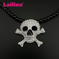Fashion Metal Rhinestone Skull Brooches for Mens Suit