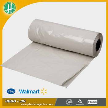 Poly printed plastic garment bag on roll