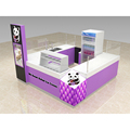 Purple color roll ice cream kiosk fried ice cream display stand design for sale
