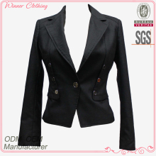 Elegant brand new fashion bomber style black jacket