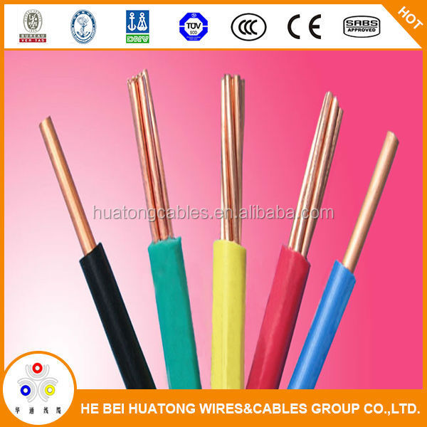High quality Copper electric wire protective plastic cover 2.5mm with CE certificate