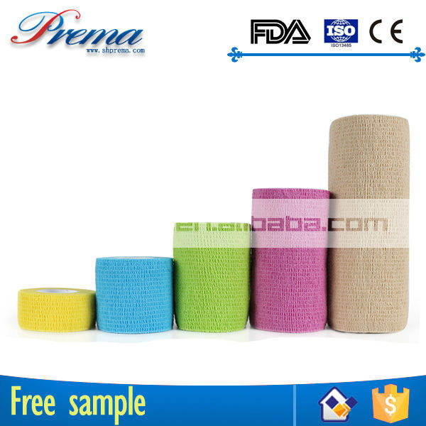 Own Factory Direct Supply Non-woven Elastic Cohesive Bandage polyester orthopedic casting tape