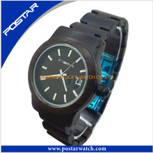 Vintage Black Wood Watch for Couple with Customized Watch